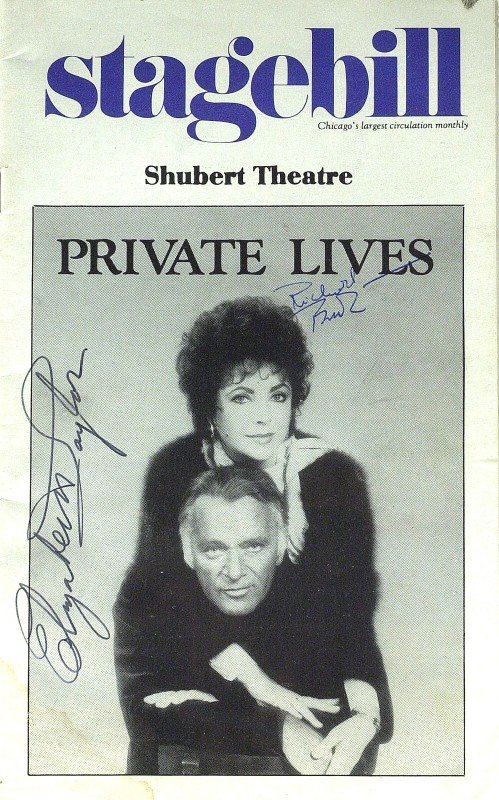 892: ELIZABETH TAYLOR & RICHARD BURTON- Playbill Signed