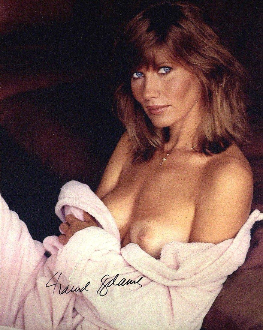 3: Bond Actress MAUD ADAMS - Topless Photo Signed