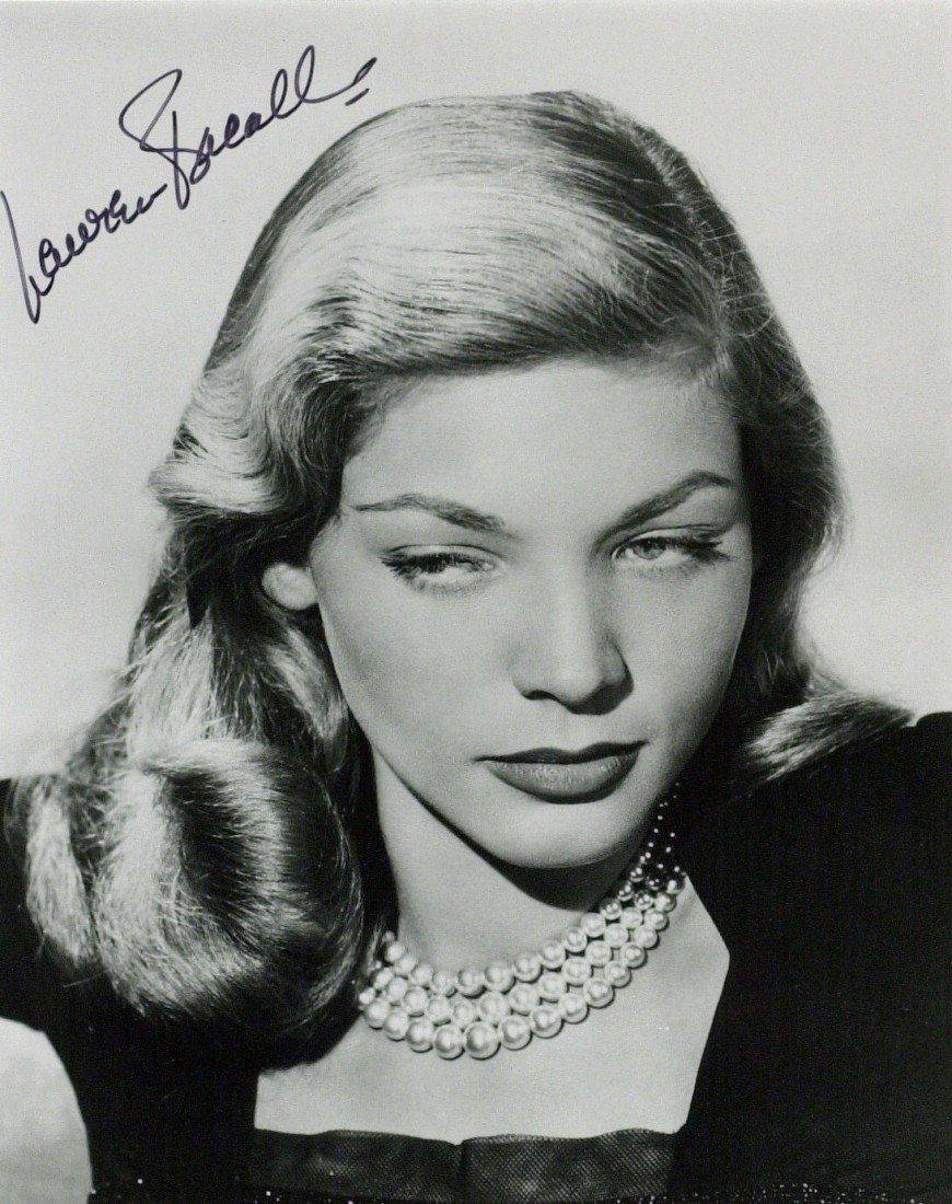 9: Actress LAUREN BACALL - Photo Signed