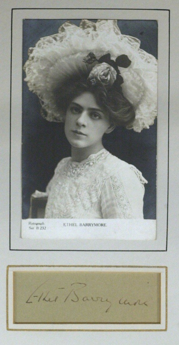 18: Stage Actress ETHEL BARRYMORE - Matted Signature