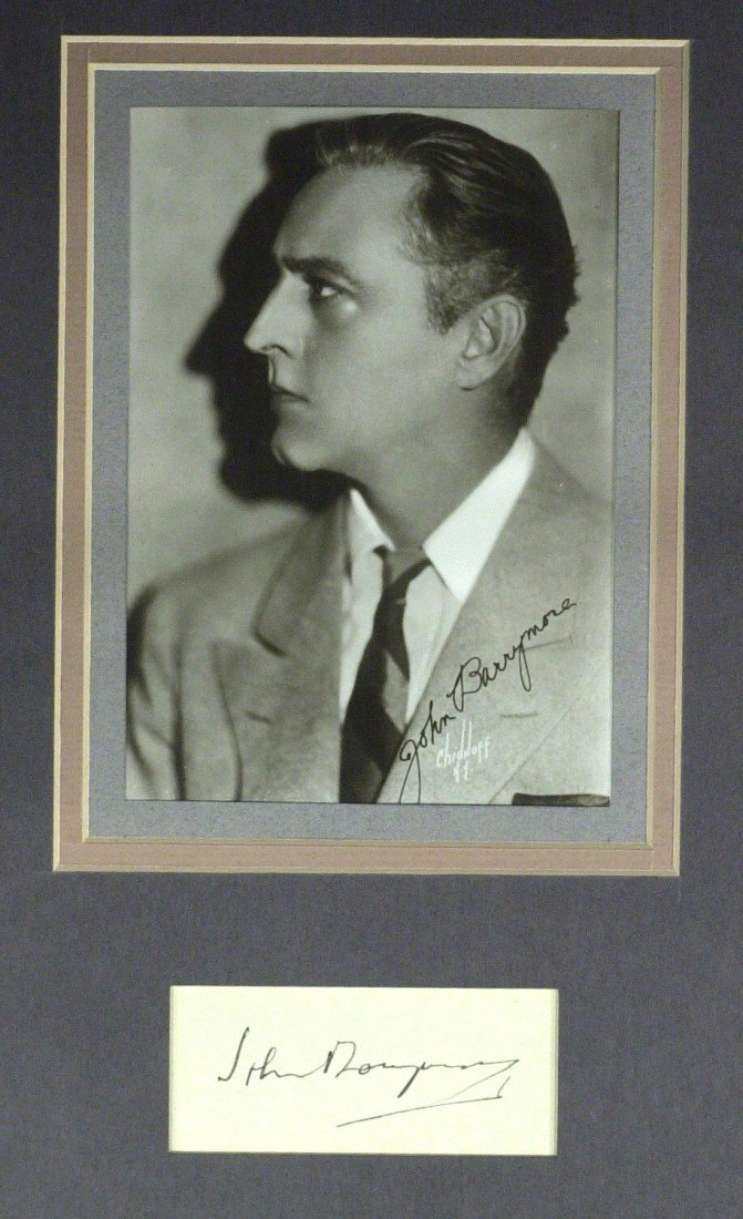 19: Actor JOHN BARRYMORE - Matted Signature