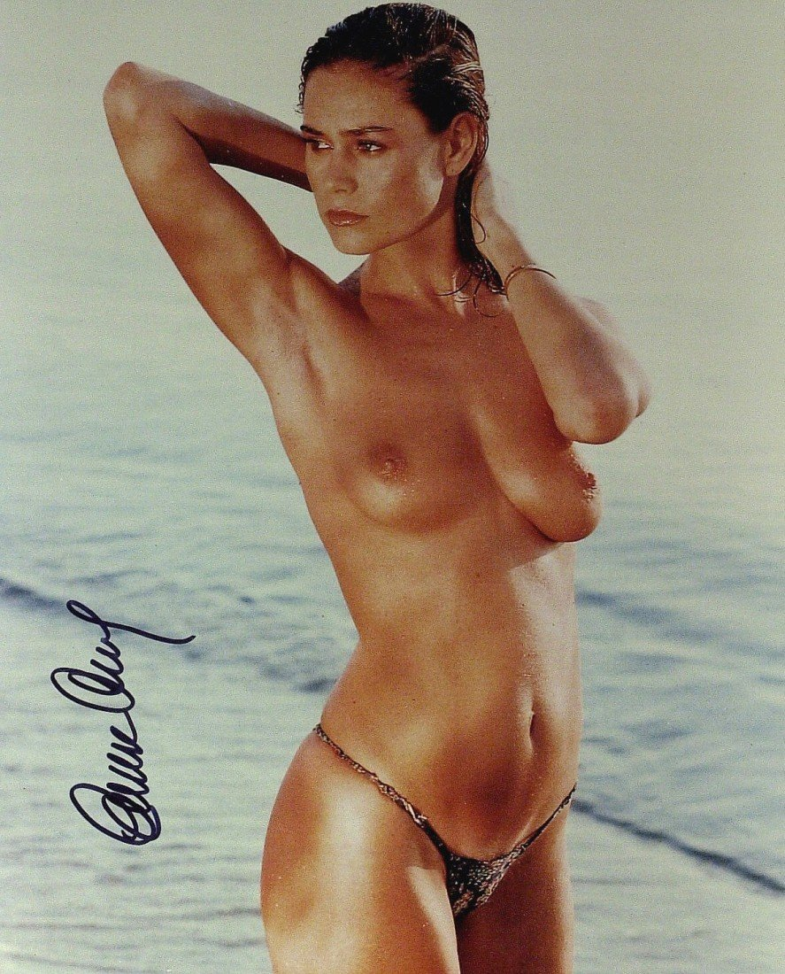 53: Bond Girl CORINNE CLERY - Topless Photo Signed
