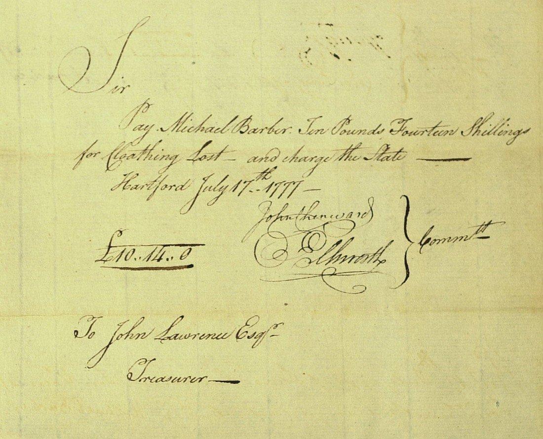 8: Patriot OLIVER ELLSWORTH - Pay Order Signed