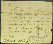 9: Chief Justice OLIVER ELLSWORTH - Pay Order Signed