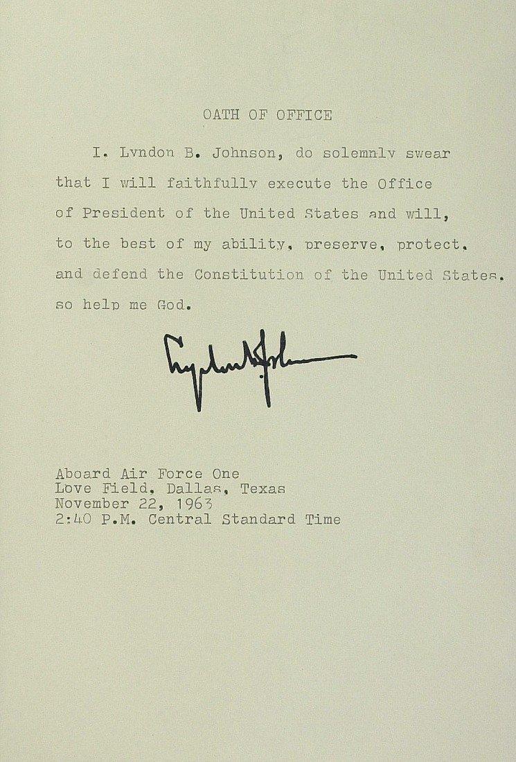104: LYNDON JOHNSON - Oath of Office & SARAH HUGHES