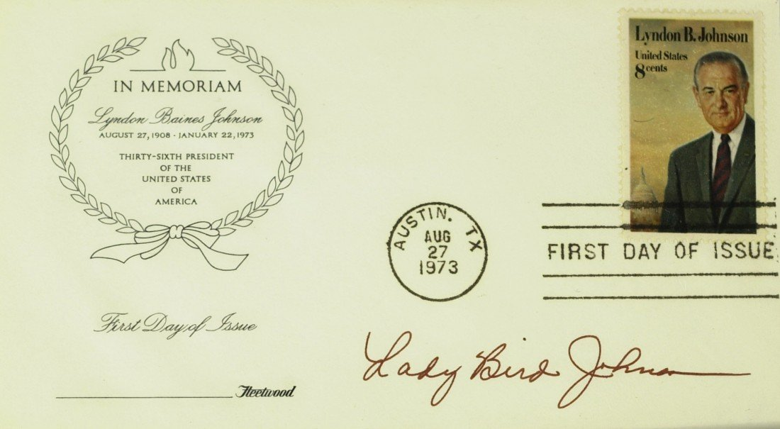 106: LADY BIRD JOHNSON - First DayLBJ Postal Cover