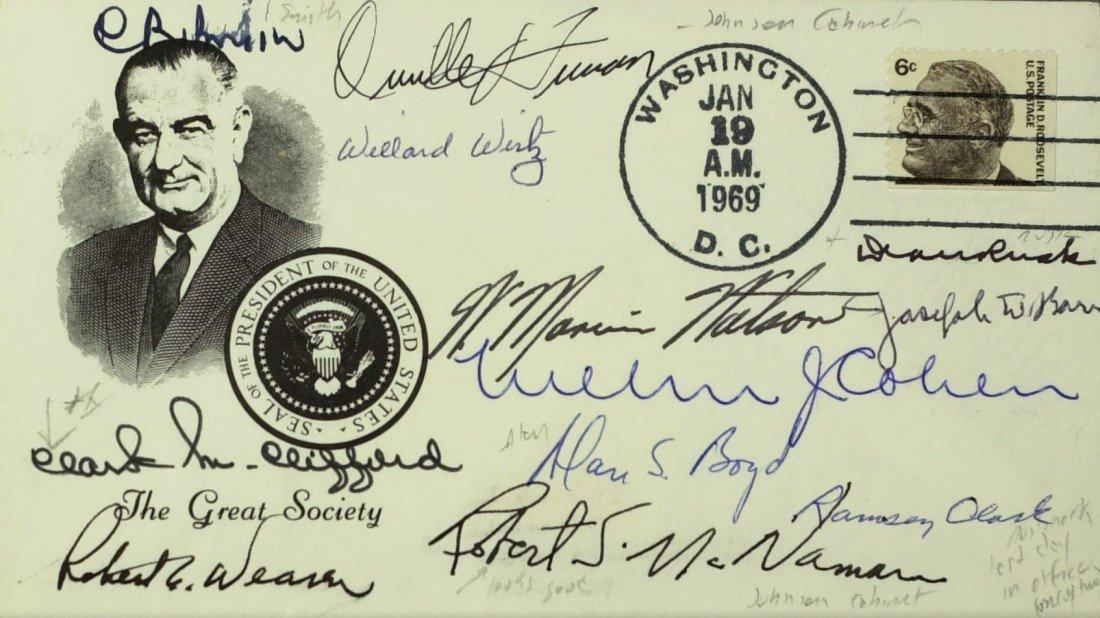 "107: LBJ's ""Great Society"" Cabinet - Postal Cover"