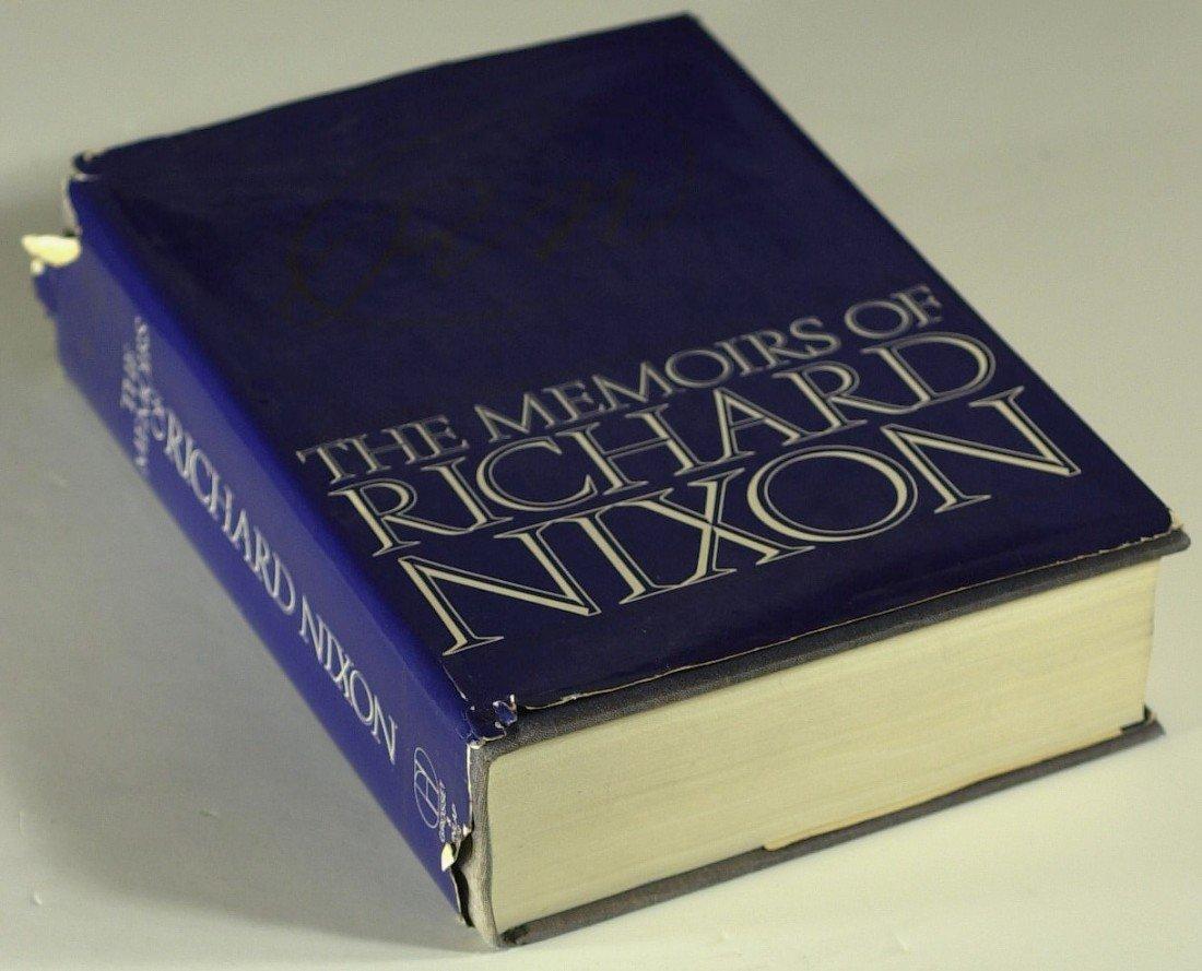 110: RICHARD M NIXON- His Book Memoirs, Signed