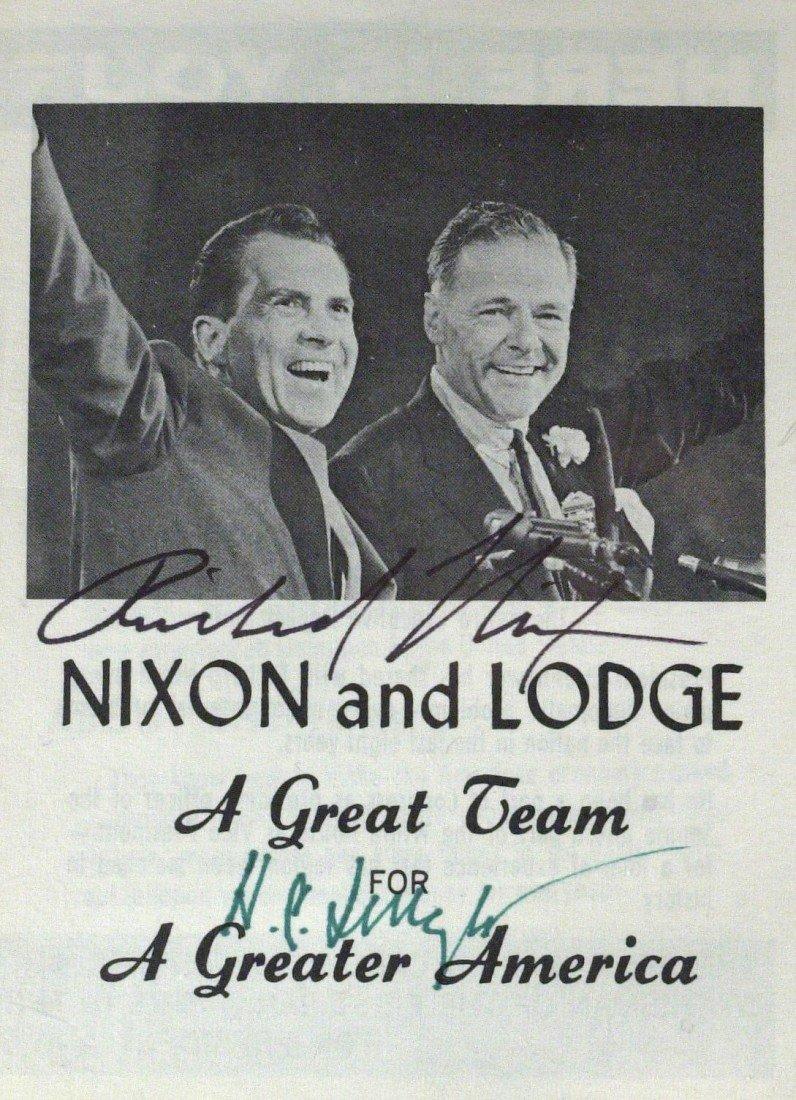 111: RICHARD NIXON/ HENRY CABOT LODGE - Flyer