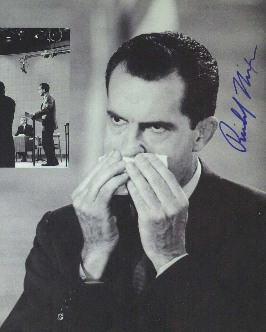 112: RICHARD M NIXON - JFK Debate Photograph