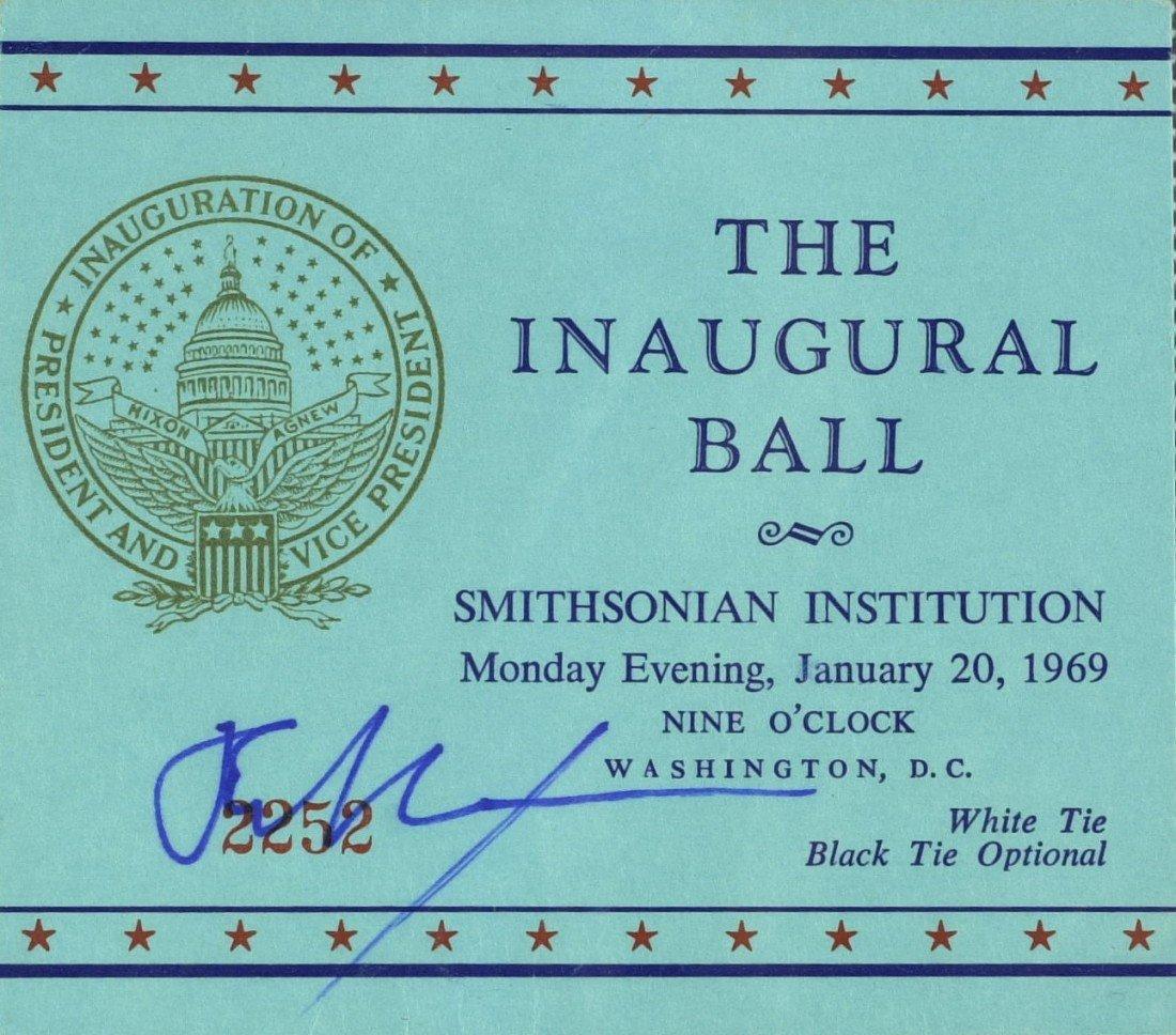 113: RICHARD M NIXON - Inaugural Ball Ticket