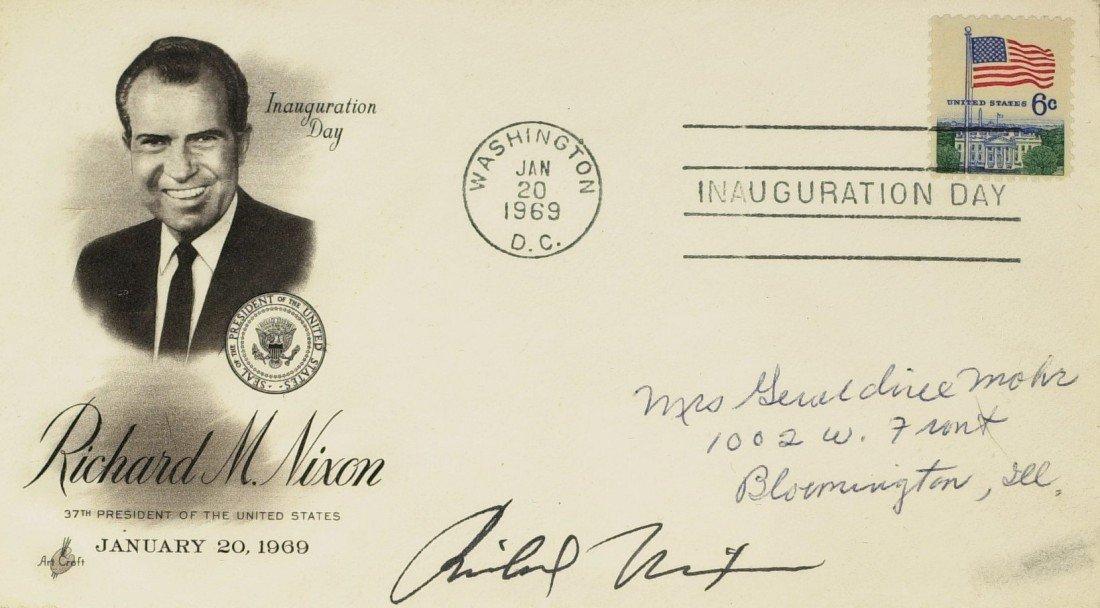118: RICHARD M NIXON - Inaugural Postal Cover