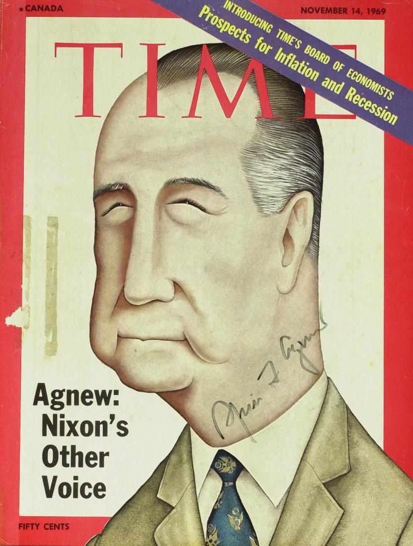 121: SPIRO AGNEW - TIME Cover & Postal Cover