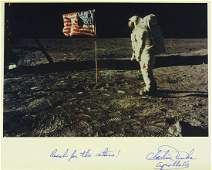 472: Moonwalker CHARLIE DUKE - Lunar Photo Signed