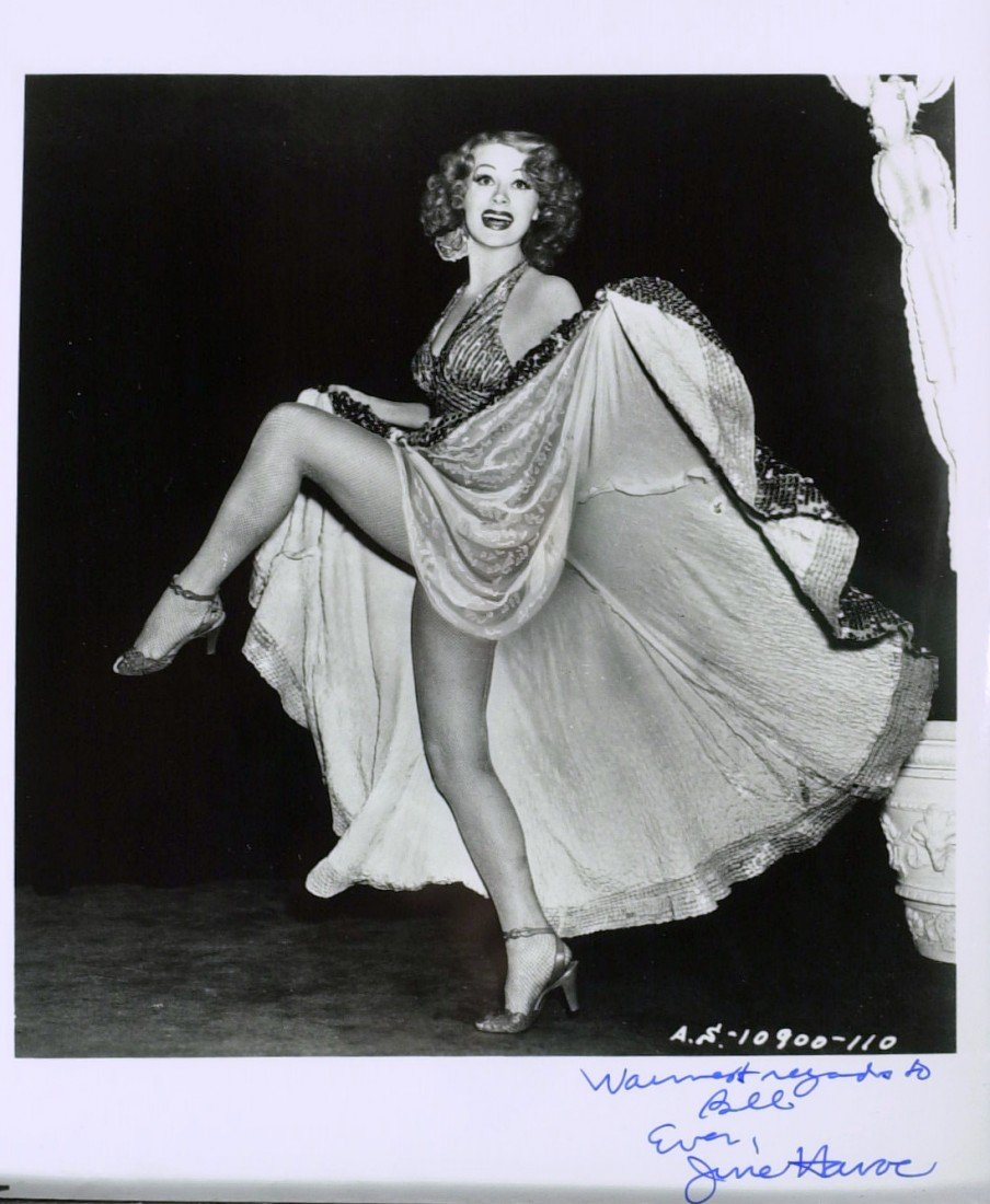 601: Actress JUNE HAVOC - Two Photos Signed