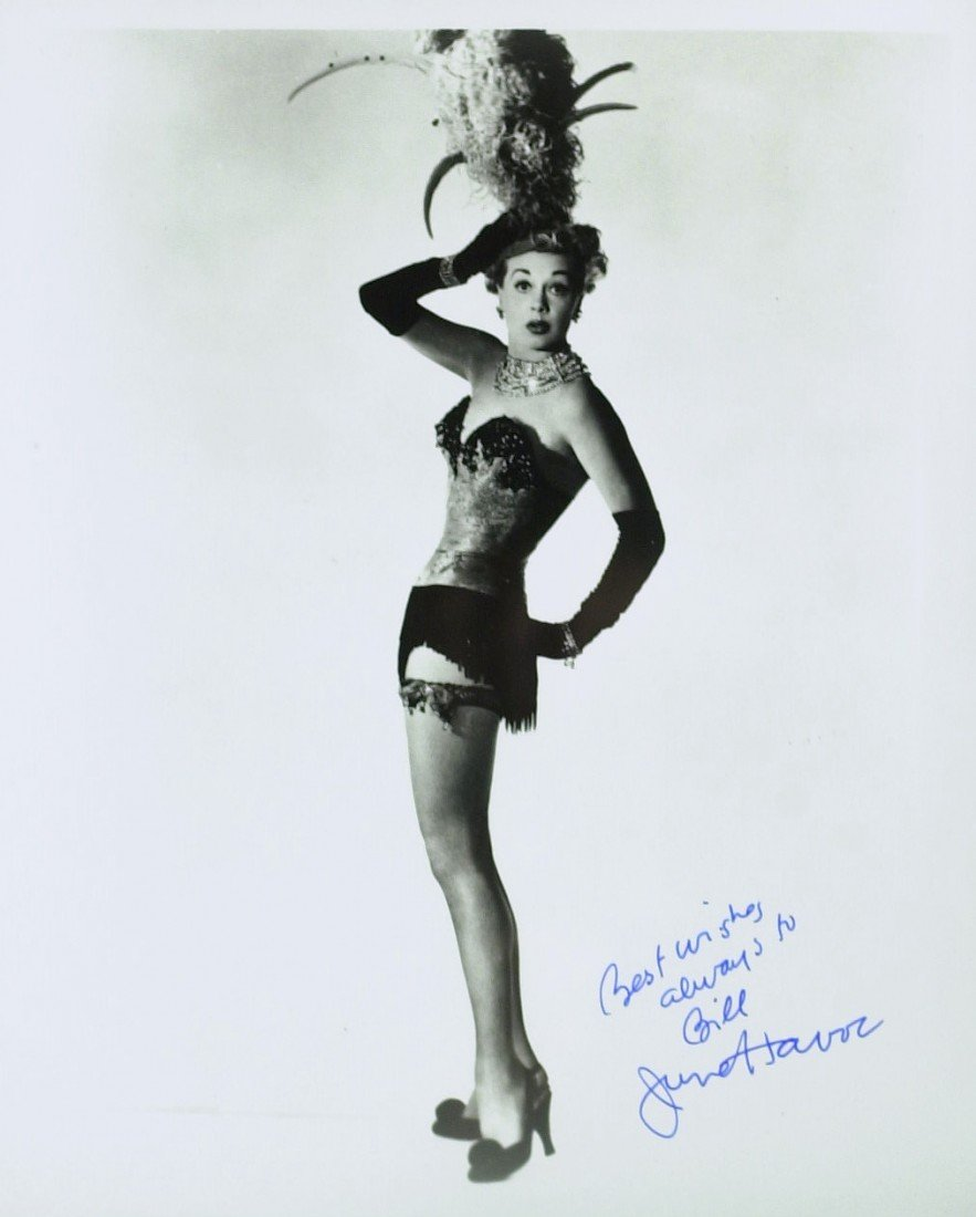 601: Actress JUNE HAVOC - Two Photos Signed - 2