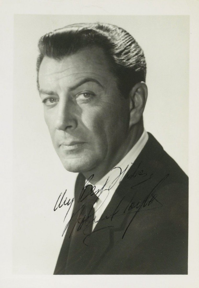 714: Actor ROBERT TAYLOR - Photo Signed