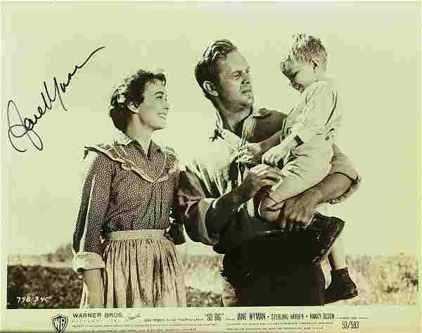"734: Actress JAYNE WYMAN - Movie Still ""So Big"" Signed"