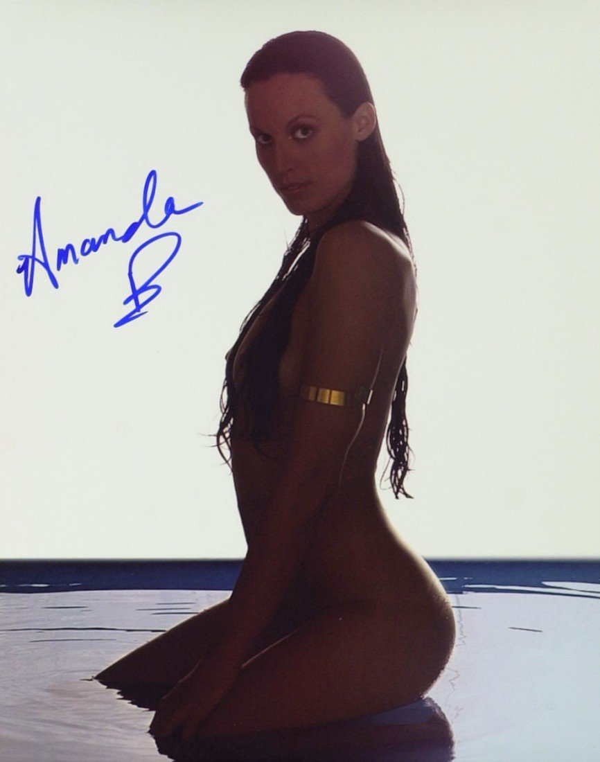781: Swimmer AMANDA BEARD - Two Photos Signed 1 Nude