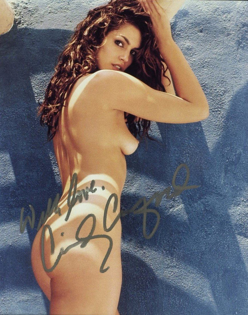 785: Model CINDY CRAWFORD - Nude Photo Signed