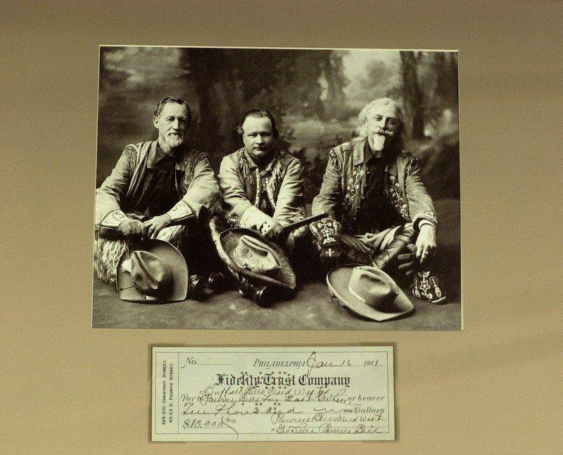 1001: Wild West PAWNEE BILL - Check Written & Signed