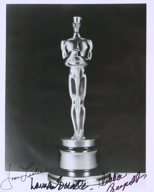 1004: OSCAR Photo - Signed By Three Actresses