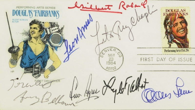 1007: 1st Day Postal Cover Signed by SEVEN - Incl AYRES