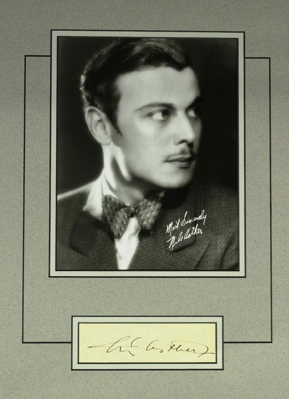 1020: Swedish Actor NILS ASTHER - Matted Signature