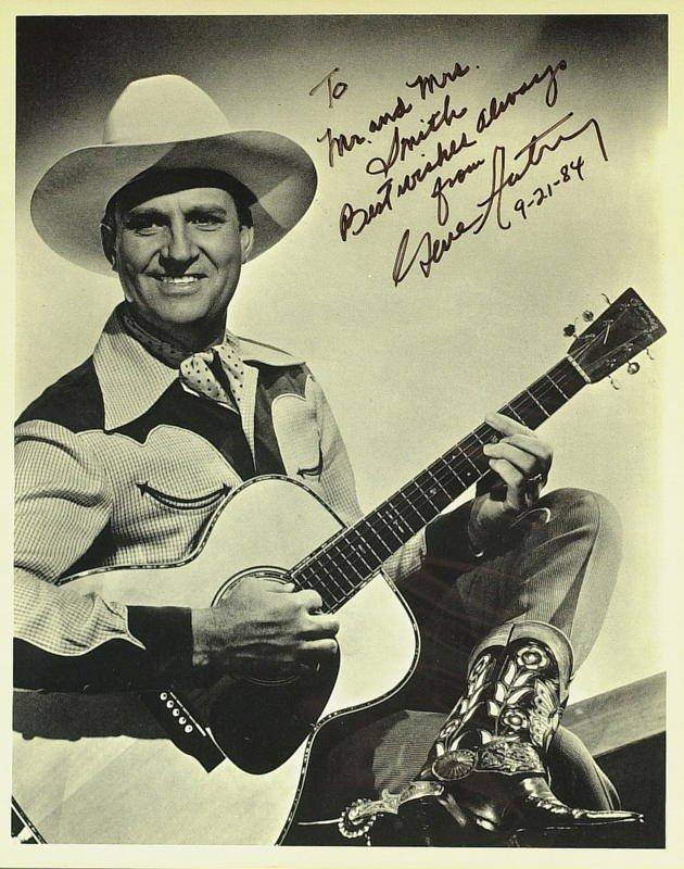 1022: Singing Cowboy GENE AUTRY - Photo Signed
