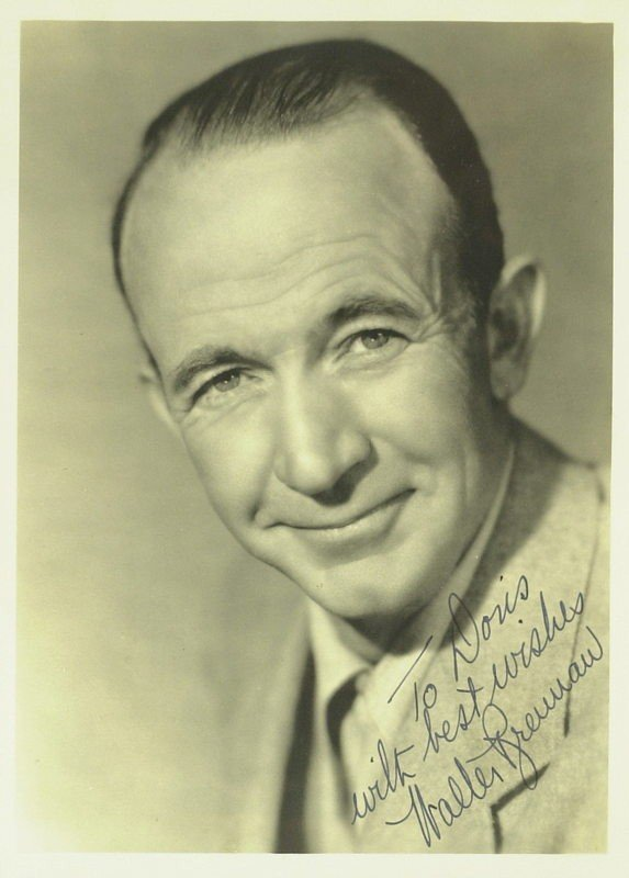 1052: The Real McCoy WALTER BRENNAN - Photo Signed
