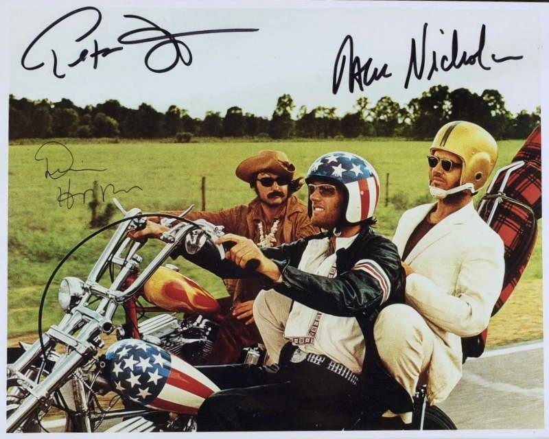 1116: 1969 Film EASY RIDER - Cast Signed Photo