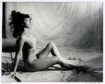 1263 BETTIE PAGE  BUNNY YEAGER  Nude Photo Signed