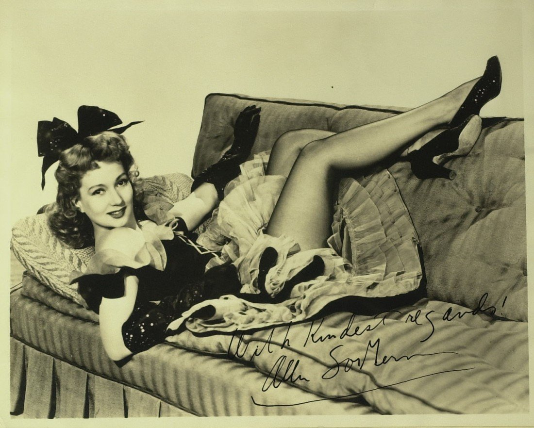 1320: Maisie Actress ANN SOTHERN - Vintage Photo Signed