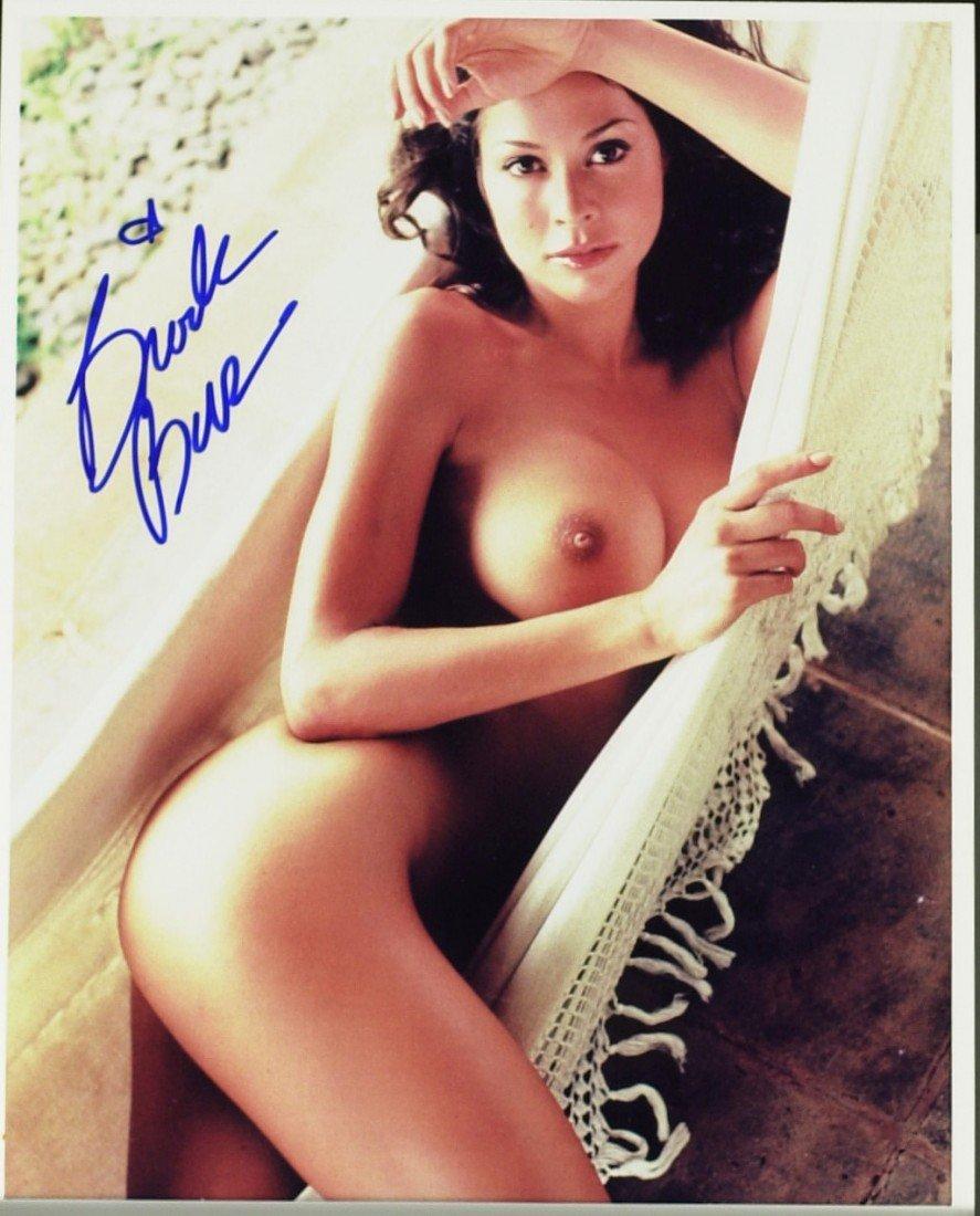 1376: Model BROOKE BURKE - Color Nude Photo Signed