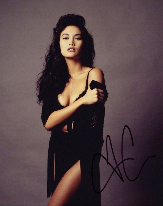 1381: Actress TIA CARRERE - Two Color Photos, One Nude - 2