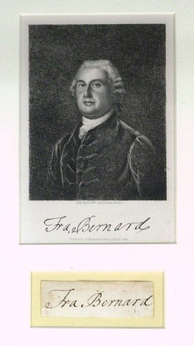 2: Gov FRANCIS BERNARD - Signature Framed