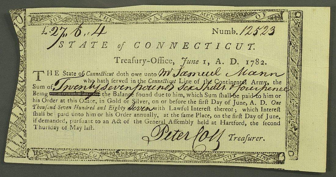 3: Patriot PETER COLT - 1782 Doc Signed