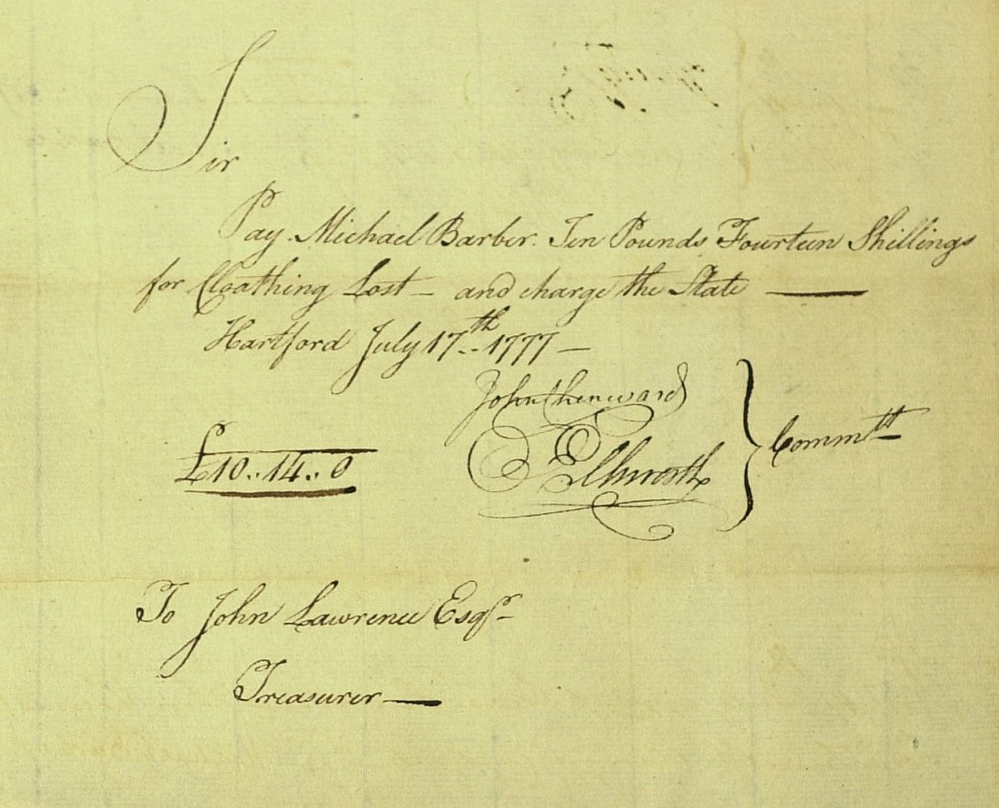 8: Statesman OLIVER ELLSWORTH - 1777 Payorder