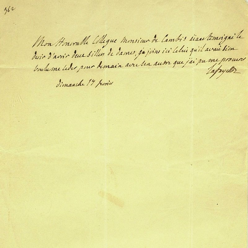 13: French General LaFAYETTE - Autograph Ltr Signed