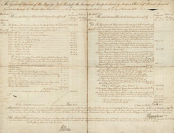 16: Colonial Gov HENRY MOORE - 1765 Doc NY Rents