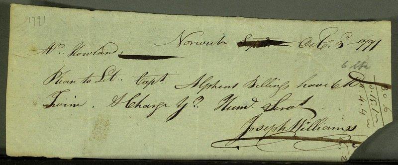 22: Rev War Gen JOSEPH WILLIAMS - War Doc Signed