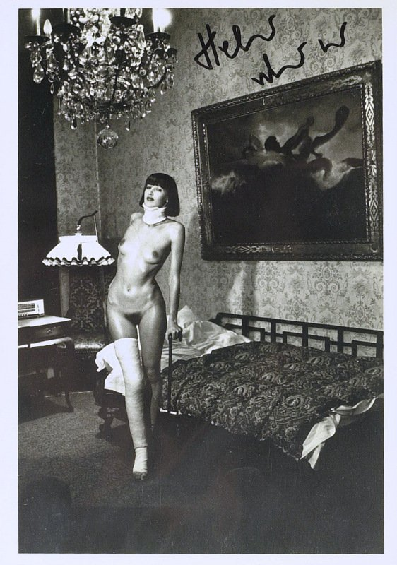 333: Photographer HELMUT NEWTON - Nude Photo Signed