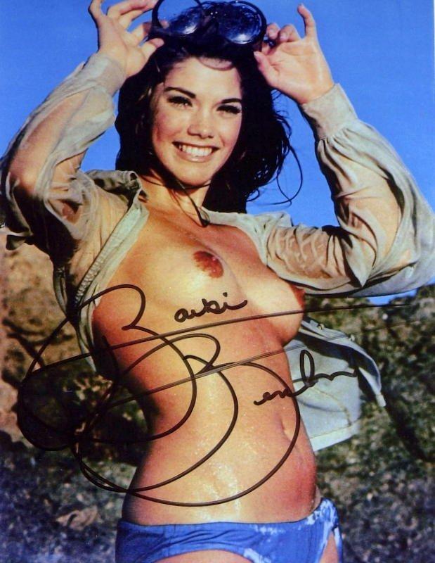 790: Playboy Model BARBIE BENTON - Topless Photo Signed