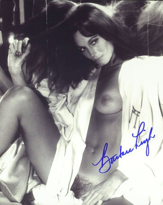 796: Actress BARBARA LEIGH - Nude Photo Signed