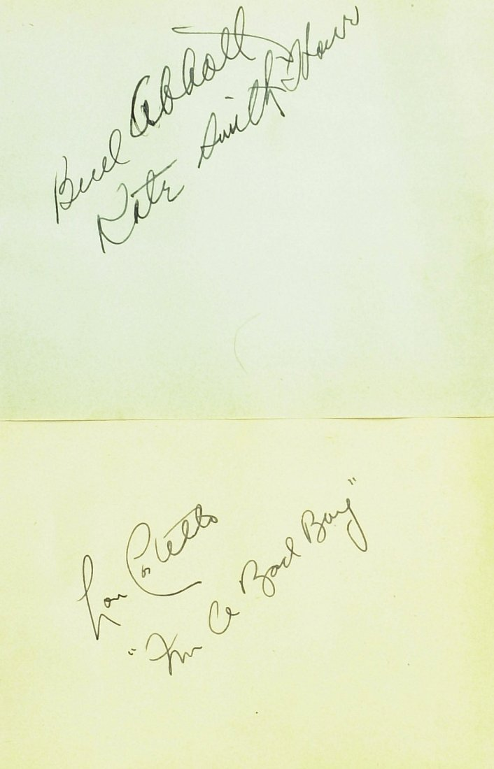 1001: BUD ABBOTT and LOU COSTELLO - Album Pages Signed