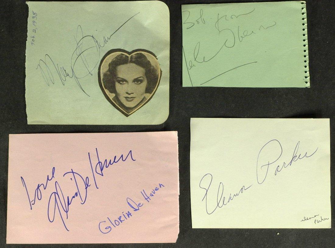 1011: 6 Album Pages Signed: OBERON, DeHAVEN, WONG etc