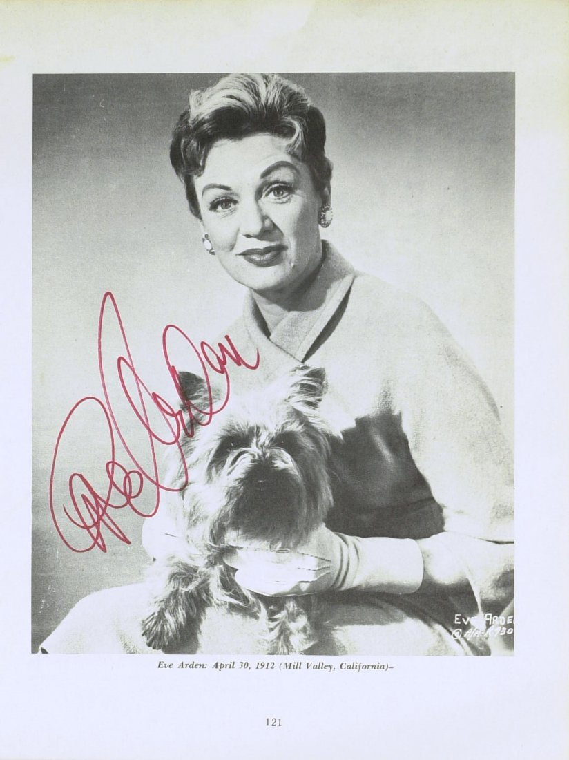 1014: Miss Brooks, EVE ARDEN - ALS and Photo Signed