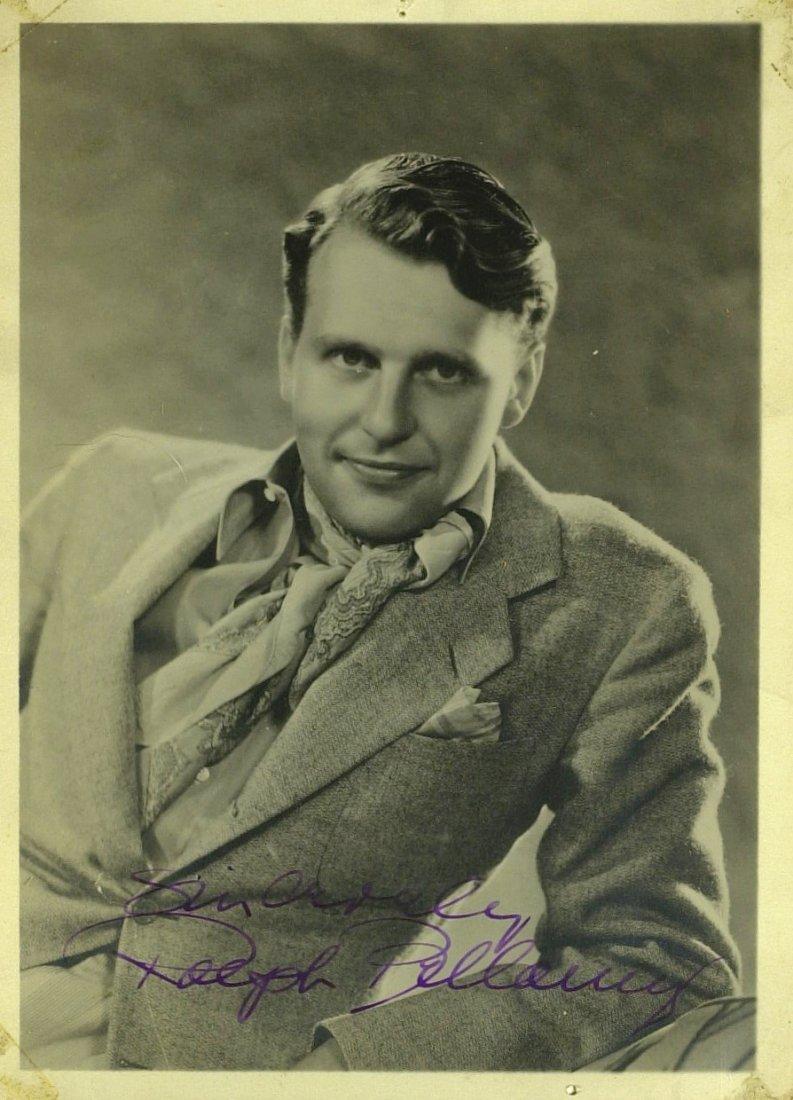 1036: Actor RALPH BELLAMY - Vintage Sepia Photo Signed