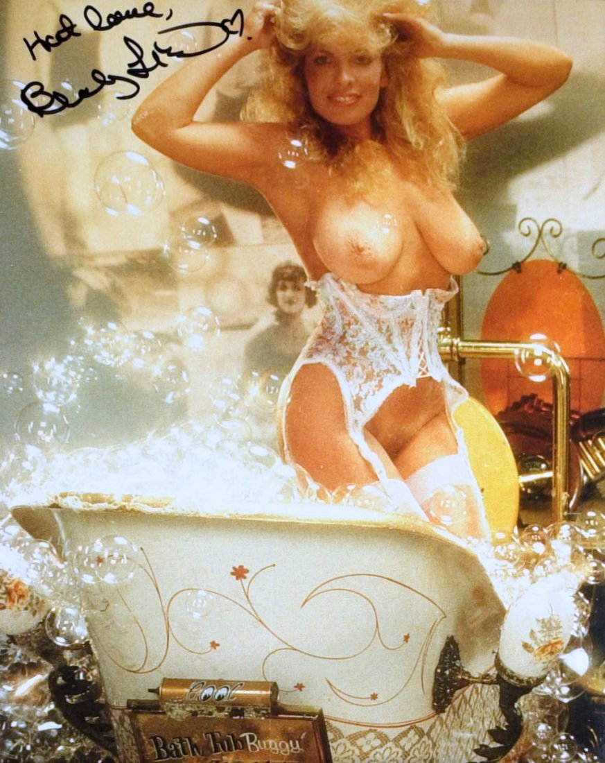 1502: Actress BECKY LeBEAU - Two Nude Photos Signed