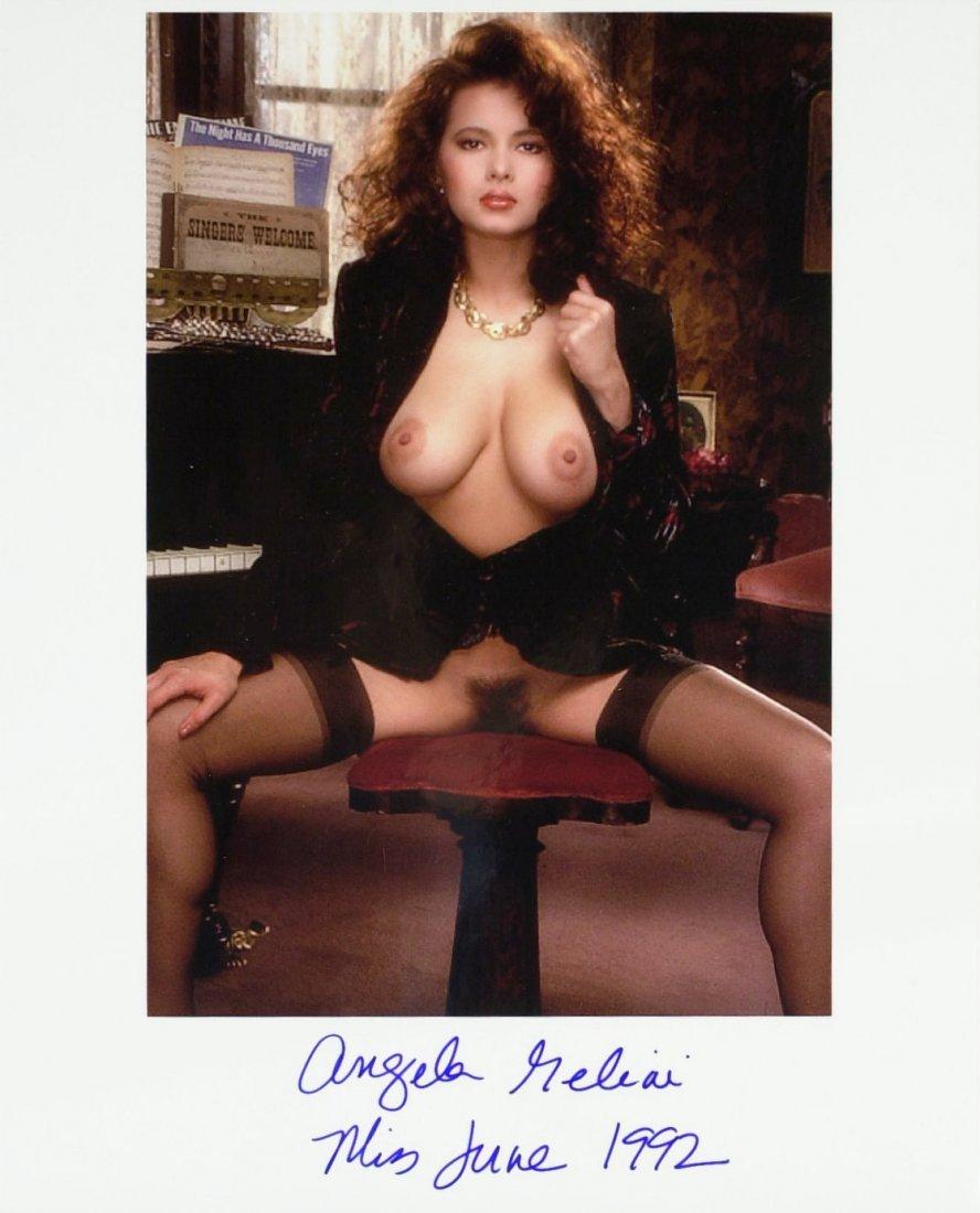 1559: Playboy Model ANGELA MELINI - Nude Photo Signed